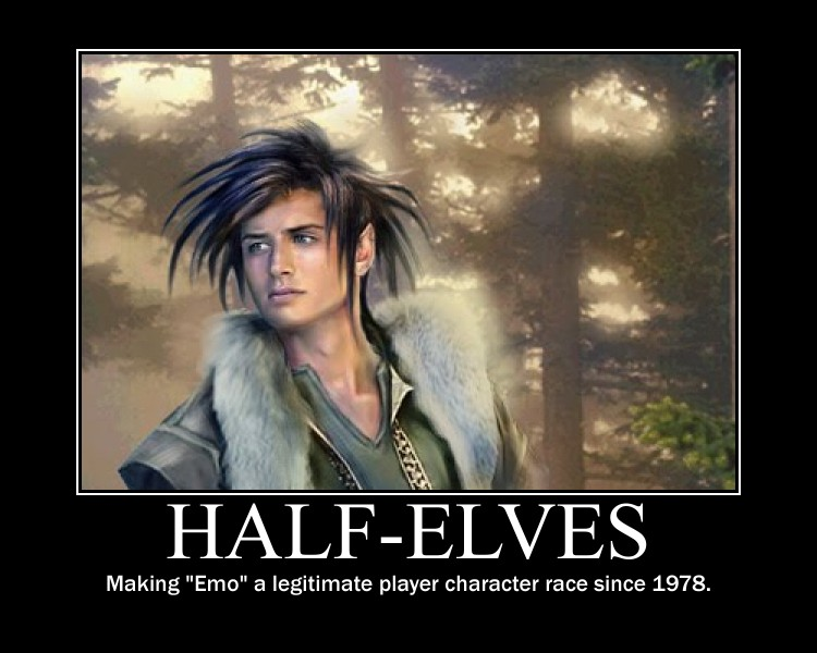 Half-Elves Demotivator
