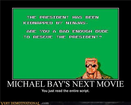 Michael Bay Demotivator