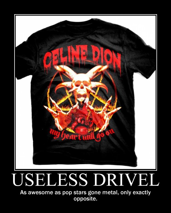 Useless Drivel Pop Star Metal
