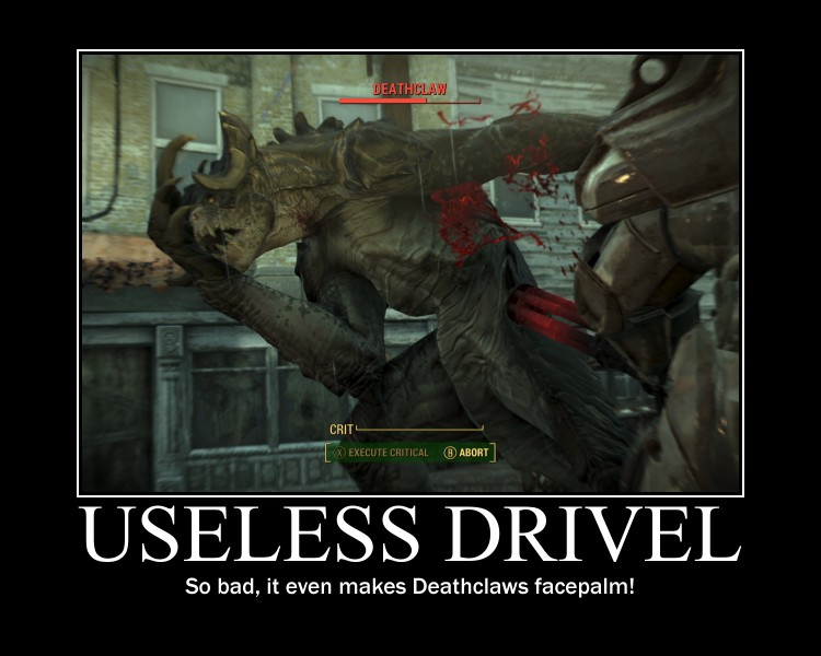 Useless Drivel Deathclaw Facepalm