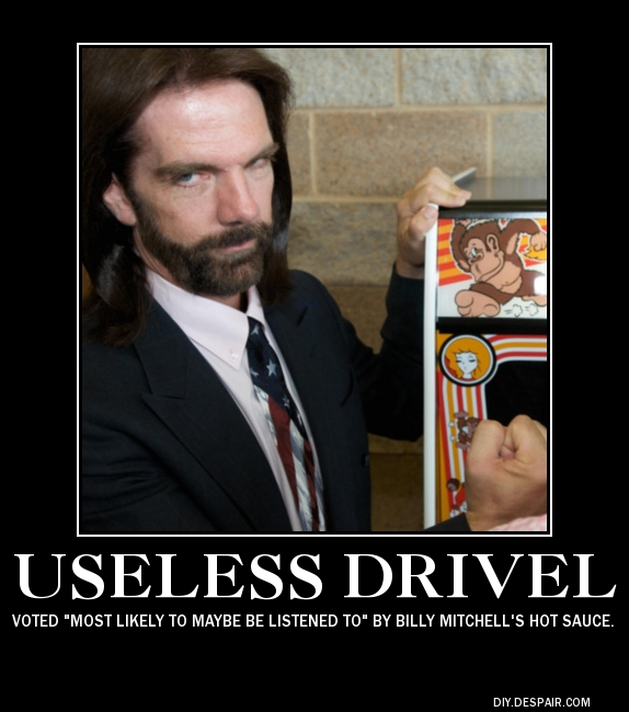 Billy Mitchell Useless Drivel
